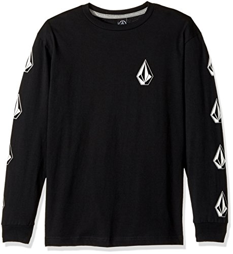 Shirt Genuine Boys (Volcom Big Boys' Deadlystones Long Sleeve Tee, Black, L)