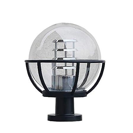 HDMY Gate Pillar Ball Light Outdoor Fence Led Column Lamp Waterproof Transparent Railing Garden Lawn Landscape Lighting Size : M