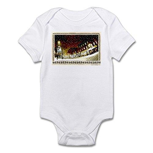 CafePress Wintery Church ST. Infant Creeper - Cute Infant Bodysuit Baby - 2 Burlington Street Vt Church