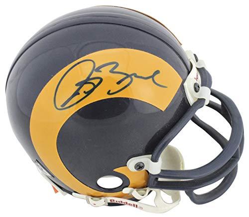 Rams Isaac Bruce Authentic Signed Vintage Replica Mini Helmet BAS