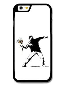 AMAF ? Accessories Banksy Flower Thrower case for iPhone 6 wangjiang maoyi by lolosakes