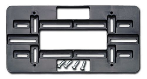 Cruiser Accessories 79150 Universal License Plate Mounting Plate, Black (Bumper Mounting Plate)
