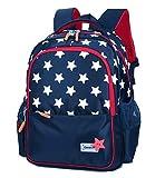 FLHT, Girl Boy Children's School Bag Backpack, Waterproof And Lightweight 6-12 Years Old Large Capacity 1-3-5 Grade Primary School Students School Bag Travel Backpack,Navy-OneSize