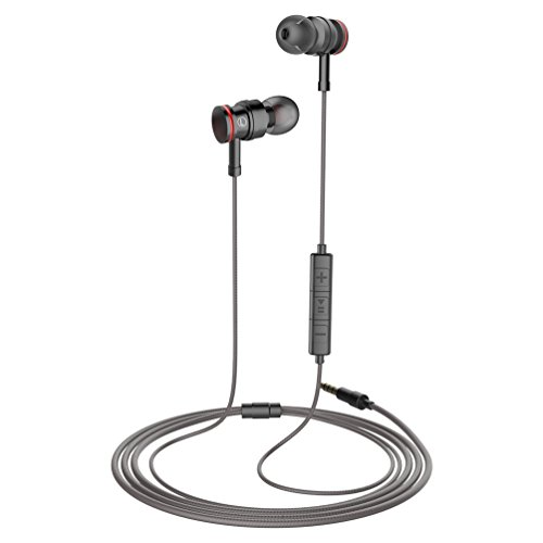 Earphones with Microphone Stereo Headphones Earbuds with Mic and Volume Control for iPhone Samsung and More Android Smartphones,3.9 Ft/Black - Image 1