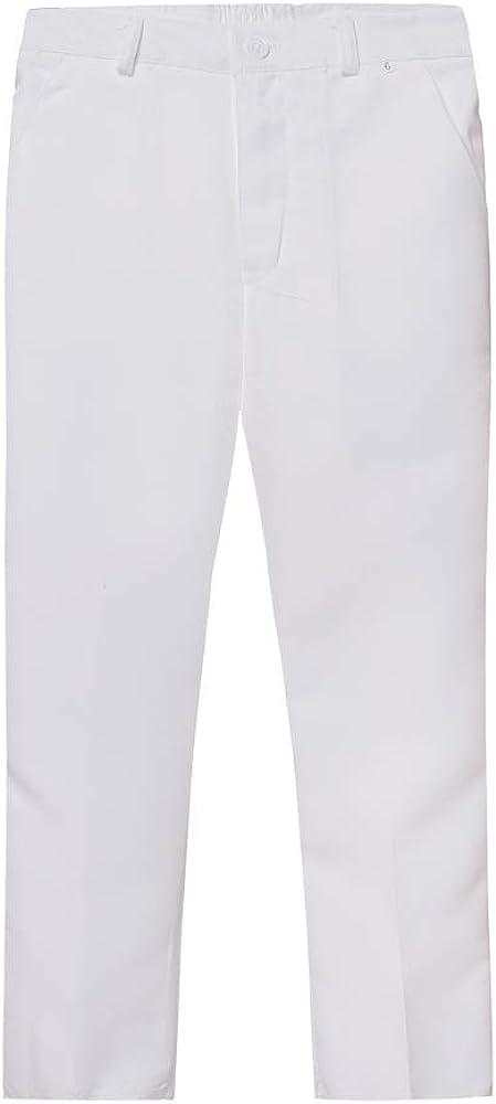 Boys Slim Fit Suits 5 Pieces Blazer with Gold Rims Bowtie Vest Shirt Pants 2 Colors 5 Patterns for Party Performance