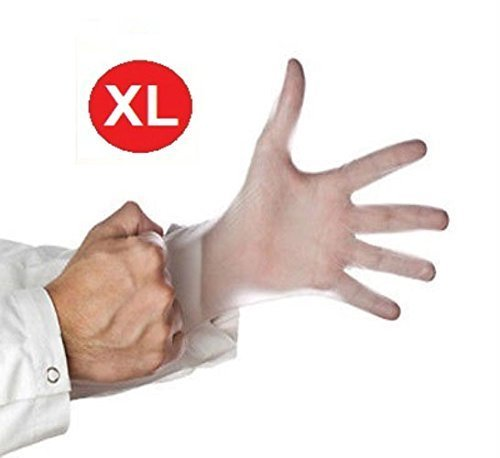 VINYL DISPOSABLE GLOVES POWDER FREE 4.5 Mil NON-LATEX NON-MEDICAL (6,000, X-Large)