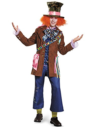 Disney Men's Plus Size Alice Mad Hatter Prestige Costume, Multi, XX-Large]()