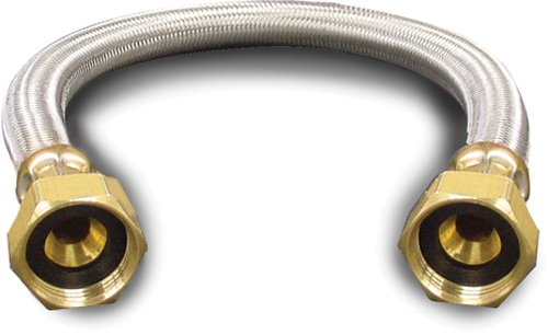 Kissler & Company Inc. 88-4012 Braided Water Heater Connector, 3/4-Inch F by 3/4-Inch F by 12-Inch, Stainless Steel