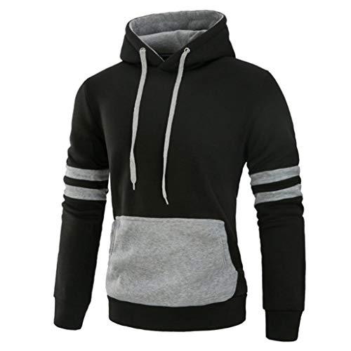 Clearance Sale! 2018 Wintialy Men's Long Sleeve Autumn Winter Splicing Pocket Casual Sweatshirt Hoodies (K-12 Gear Jumper)
