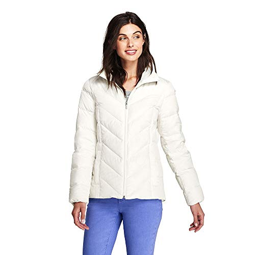 Lands' End Women's Down Puffer Jacket, XS, Ivory