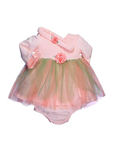 Anne Geddes Clothes For Babies (Baby Starters Anne Geddes Pink/Green Tutu Long Sleeve Dress and)