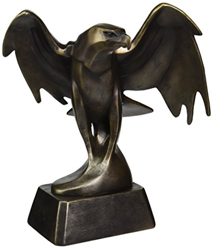 Design Toscano Forging Strength American Bald Eagle Art Deco Statue, 14 Inch, Polyresin, Bronze Finish