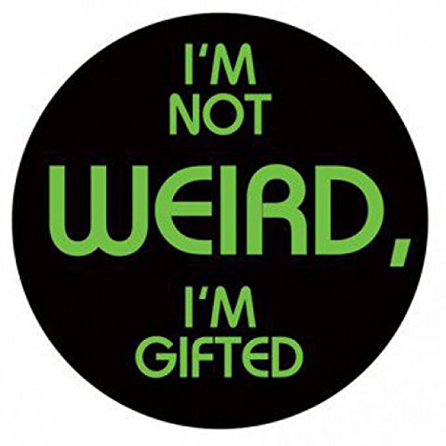 1art1 Fun Sticker Adhesive Decal - I'm Gifted (4 x 4 inches) from 1art1