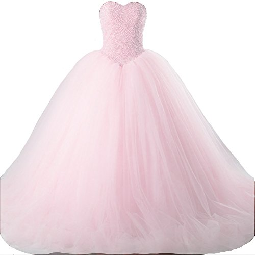 Kivary Sweetheart Pearls Quinceanera Dresses product image