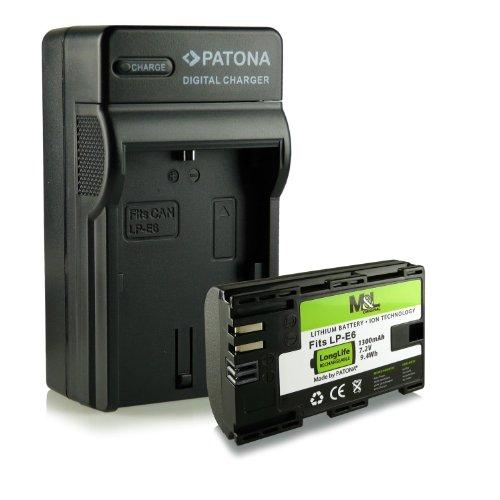 3in1 Ladegerät + Akku wie LP-E6 für Canon EOS 5D Mark II / 5D Mark III | EOS 7D | EOS 60D / 60Da