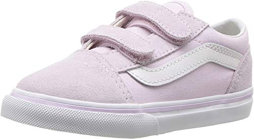 Vans VN-0A344KUJM: Boys Old Skool Lavender Fog/True White Sneakers (10 M US Toddler)