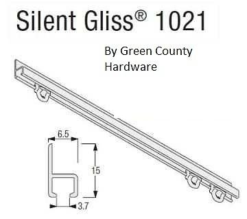 Campervan / Motorhome Silent Gliss Curtain Track, 1500mm