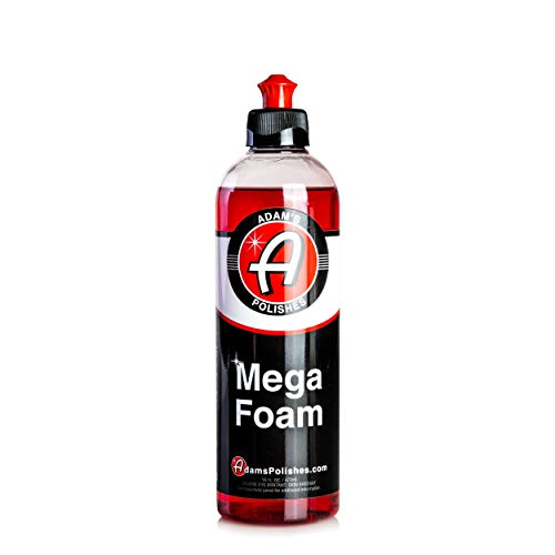 Adam's Mega Foam Shampoo 16 oz - pH Neutral Wash Soap Designed For Maximum Foam Suds In Your Bucket, Foam Cannon, Foam Gun, Sponge, Mitt, Chamois - Won't Strip Or Remove Wax Sealant or Ceramic Coating