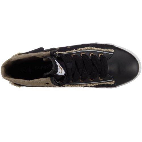 KangaROOS - Zapatillas de deporte de lino para hombre Negro