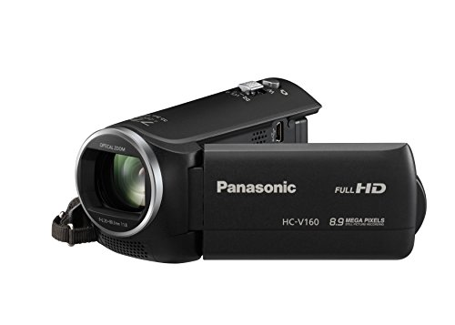 Panasonic HC-V160EG-K Full HD Camcorder ( 38x opt. Zoom, 2,2 MP, WiFi, 6,7 cm großes LC-Display, elektr. Bildstabilisator) schwarz