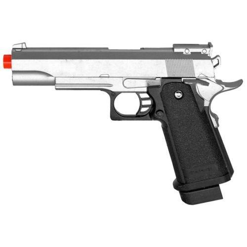silver metal spring airsoft m1911 a1 full size pistol hand gun air w/ 6mm bbs bb(Airsoft Gun)