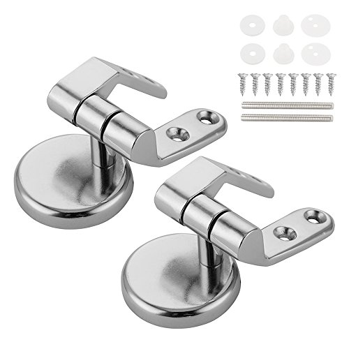 FP Toilet Seat Hinge Replacement Parts with Fittings Stainless Steel Toilet Seat Hinges with Bolts and Nuts