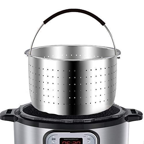 The Original - Steamer Basket Insert, Stainless Steel - for 6 qt and 8 Quart Instant Pot, Pressure Cooker - Strainer for Pasta, Rice Tamales, Fish, Veggies, Eggs ()