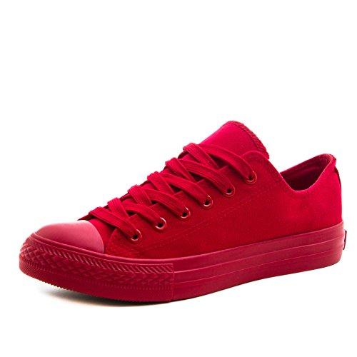 Hommes Classiques Femmes Unisexe Chaussures Baskets Basses Montantes Tout Rouge