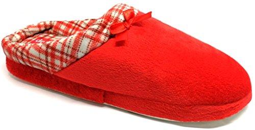 Mod Rosso Da Ciabatte Firenze Donna Fonseca Pantofole Invernali De W209 YwzqOAz
