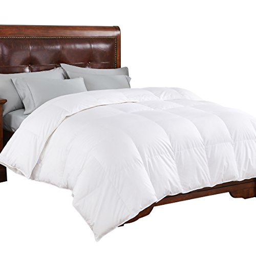 PEACE NEST HE-DC-16003-K Luxurious, 600 Fill Power, 400 Thread Count, 100% Eygptian Cotton Cover, King Size, White Goose Down Comforter