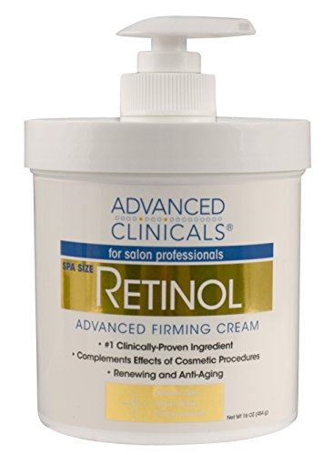 Advanced Clinicals Retinol Cream. Spa Size for Salon Professionals. Moisturizing Formula Penetrates Skin to Erase the Appearance of Fine Lines & Wrinkles. Fragrance Free. 16oz (Retinol Body Cream compare prices)