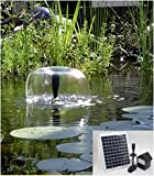 8 Watt Solar Panel POND WATER SOLAR PUMP W/ Battery & Light Module