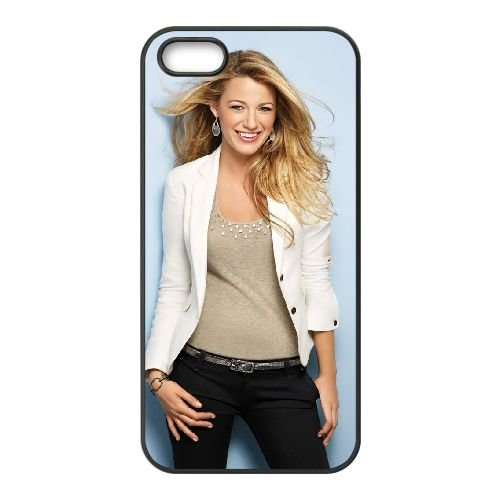 Blake Lively Smiling Wide coque iPhone 4 4S cellulaire cas coque de téléphone cas téléphone cellulaire noir couvercle EEEXLKNBC23630