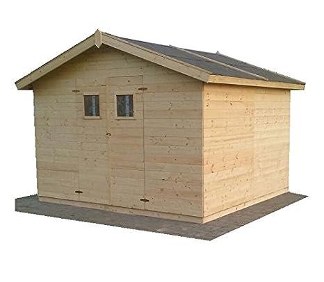 CADEMA casa de jardín MADRID 19mm de madera, incluye suelo,