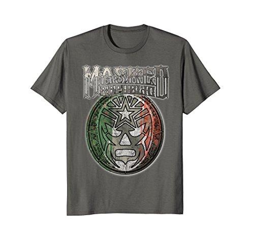 Mens Masked Republic Lucha Libre Mexico City Earthquake T-shirt Large Asphalt