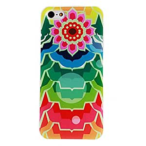 JOE Colorful Sunflower Pattern PC Hard Case with Transparent Frame for iPhone 5/5S