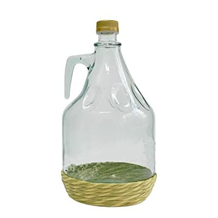 Botella de cristal botella de vidrio globo gärballon vasos de vino globo en red 3L NEU