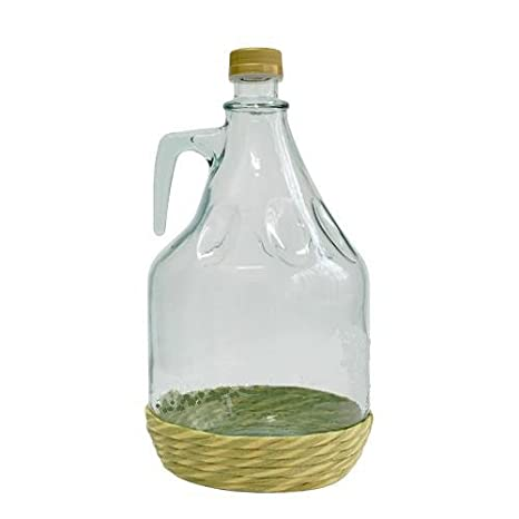 Botella de cristal botella de vidrio globo gärballon vasos de vino globo en red 3L NEU BDO3Z: Amazon.es: Hogar