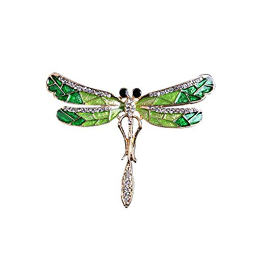 JczR.Y Vintage Crystal Dragonfly Brooches for Women Large Insect Brooch Pin Fashion Dress Coat Accessories Cute Jewelry ()