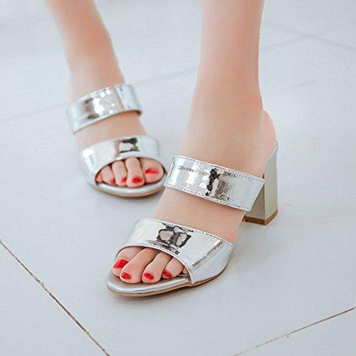 Pantofole Donna Scivolare Silver AicciAizzi Sandali su Donna FE8RqR