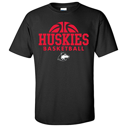 Mens Basketball Husky - Northern Illinois Huskies Basketball Hype Mens T-Shirt - Large - Black