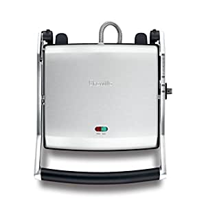 Breville Bsg540Bss The Toast & Melt 4 Slice Sandwich Press, Brushed Stainless Steel