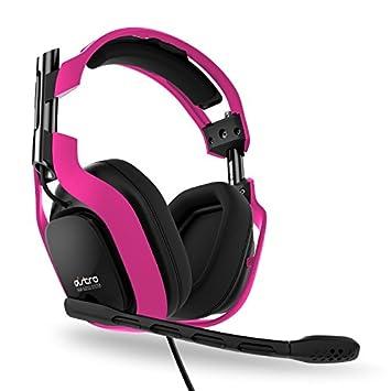ASTRO Gaming A40 - Auriculares con micrófono de diadema cerrados (con micrófono), rosa