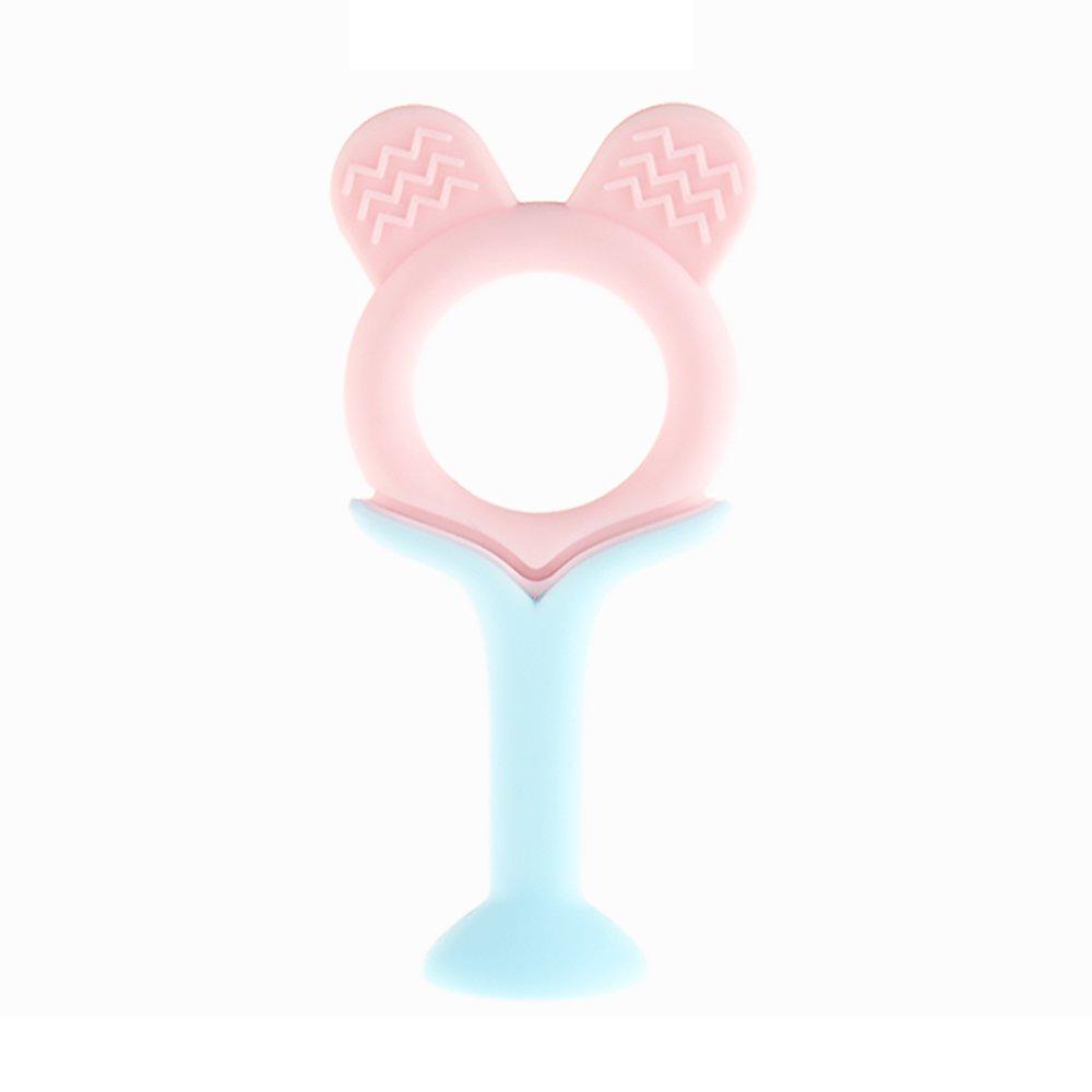 verde Mordedor para beb/és Juguetes Creative Rose colorida Orejas Forma Silicona de Calidad Alimenticia dentici/ón juguete para el beb/é infantil del ni/ño libre de BPA
