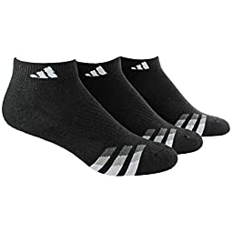 adidas Men\'s Cushioned Low Cut Socks (Pack of 3), Black/White/Light Onix/Granite, One Size