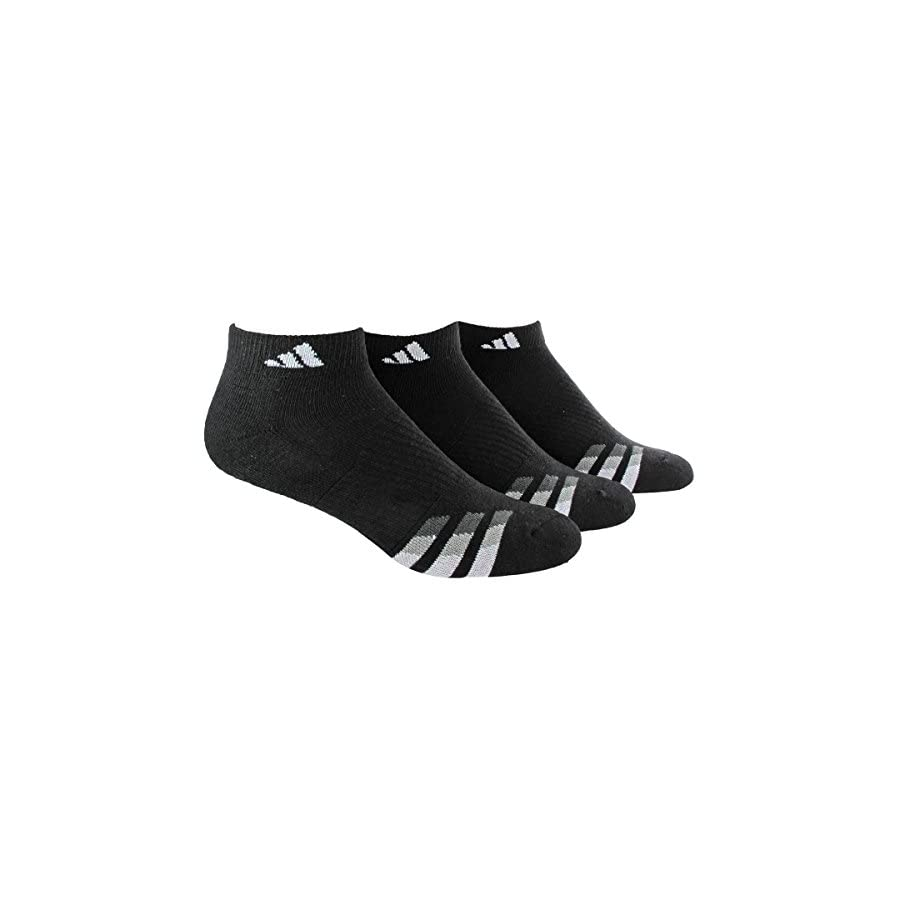 adidas Men's Cushioned Low Cut Socks (3 Pack)