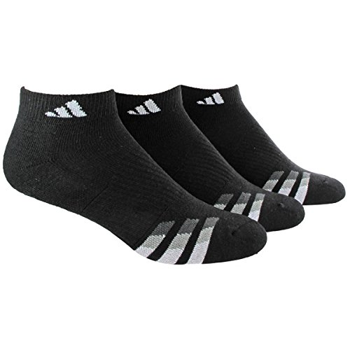 adidas Mens Cushioned Low Cut Socks (3-Pack), Black/White/Light Onix/Granite, Large: fits shoe size 6-12