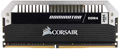 (CORSAIR 32GB (2 x 16GB) Dominator Platinum DDR4 PC4-21300 2666MHz Desktop Memory Model CMD32GX4M2A2666C15)