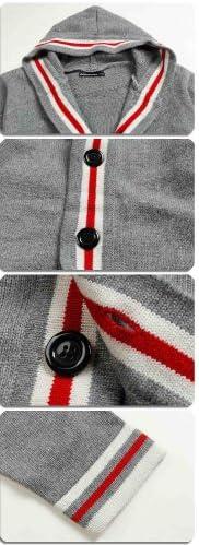 メンズジャケット ブルゾン ニット アウター メンズ カーディガン きれいめ フード付き