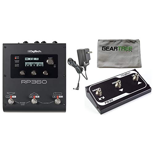 Multi Lexicon Effects Processors (Digitech RP360 Guitar Multi Effects USB Pedal w/Power Supply, Footswitch, and C)